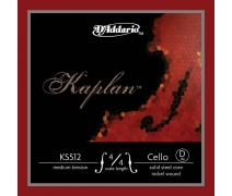 CELLO TEK TEL, KAPLAN, 4/4 SCALE, MEDIUM TENSION, D KS512