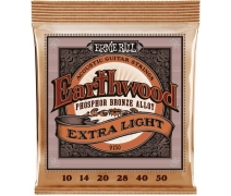 Ernie Ball P02150 | Earthwood Extra Light Phosphor Bronze .10-.50 Akustik Gitar Teli