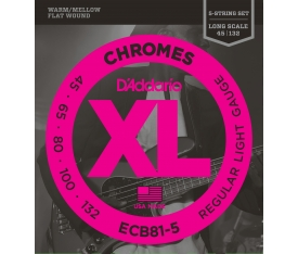 BAS GİTAR TEL SETİ, 5 TELLİ, CHROMES, REGULAR LIGHT