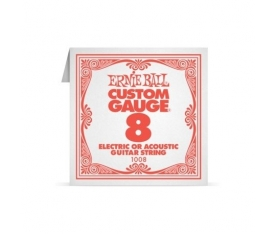 ERNIEBALL P01008 .008 PLAIN STEEL Electric/ Acoust