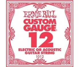 ERNIEBALL P01012 .012 PLAIN STEEL Electric/ Acoust
